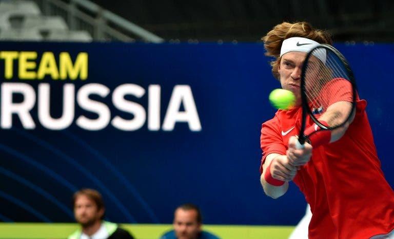 Rublev volta a dar show e deixa Rússia a um passo de conquistar ATP Cup