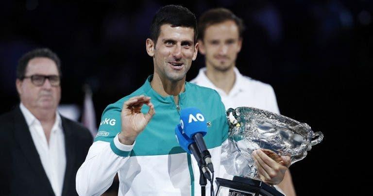 Djokovic: «Vais ganhar um Grand Slam, mas se não te importares de esperar mais uns anos…»