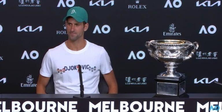 Djokovic e as críticas: «É claro que me dói as coisas que ouço»