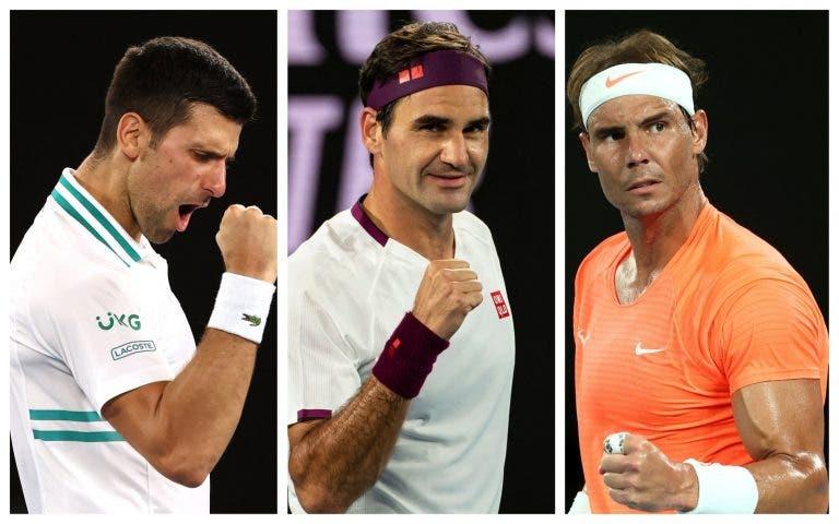 Federer, Nadal ou Djokovic? Rublev aponta um favorito ao recorde em títulos do Grand Slam