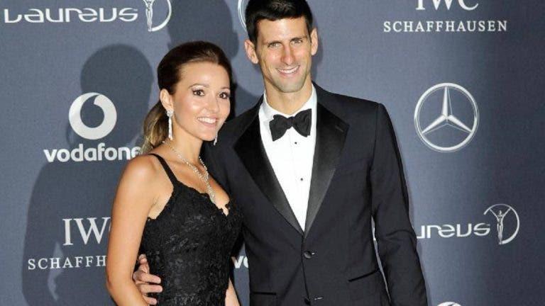 Jelena Djokovic deixa mensagem ao marido após vitória nas 'meias' em Melbourne