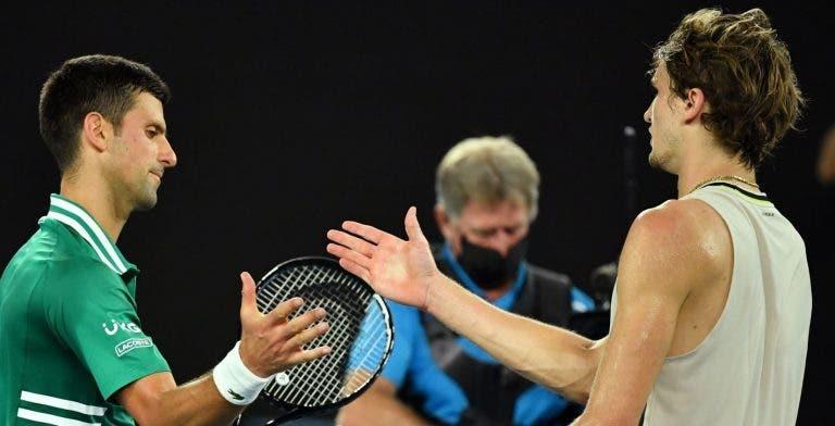 Djokovic e Zverev de acordo: viajar é difícil e bolha ao estilo da NBA seria desejável