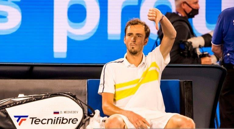 Medvedev: «Custou-me muito mais perder a final do US Open 2019»