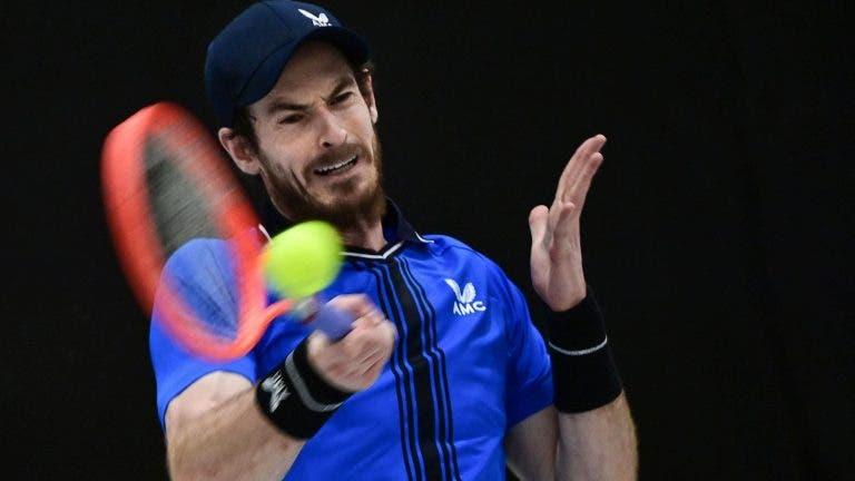 Murray irreconhecível perde na 1.ª ronda em Montpellier