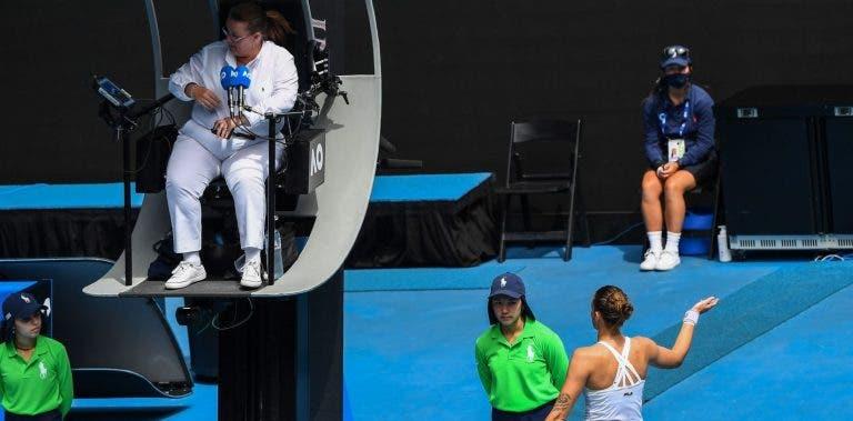 Pliskova destruiu raqueta no balneário e levou ponto de penalização: «Não sabia…»