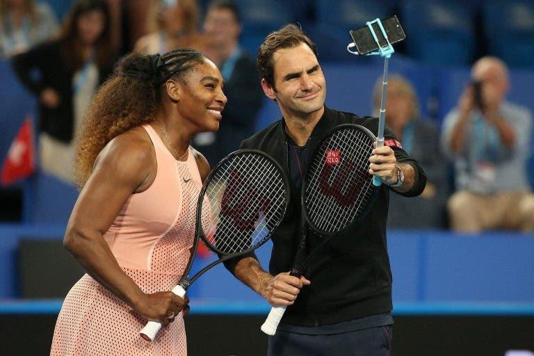 Chega-te para lá, Roger: Serena apanha Federer em estatística surreal