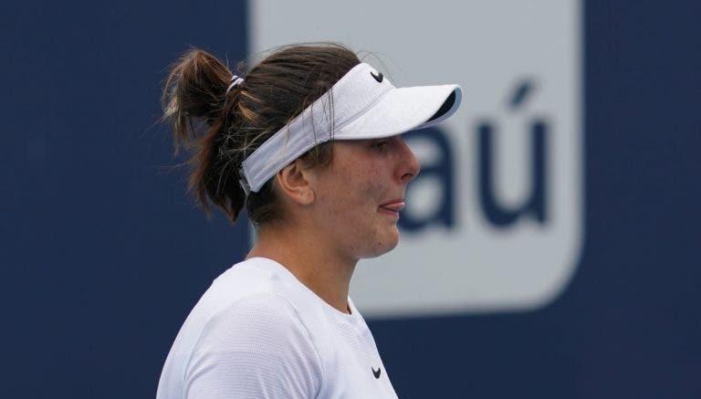 Andreescu revela que a lesão não é grave, mas falha o seu próximo torneio
