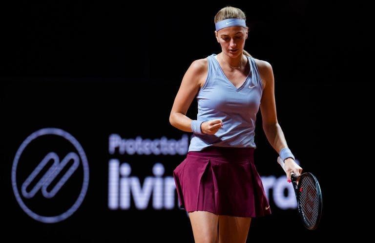 Kvitova derrotou Brady em Estugarda numa invulgar primeira ronda entre duas… top 15 WTA