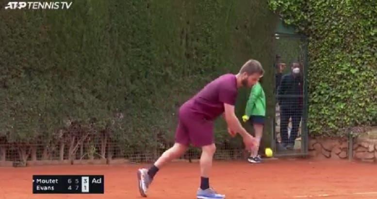 [VÍDEO] Foi após momentos como este que Evans perdeu a cabeça com Moutet