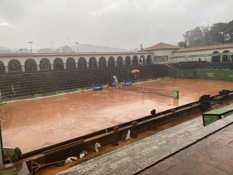 Meia-final entre Oliveira e Cachin não acaba hoje por causa da chuva