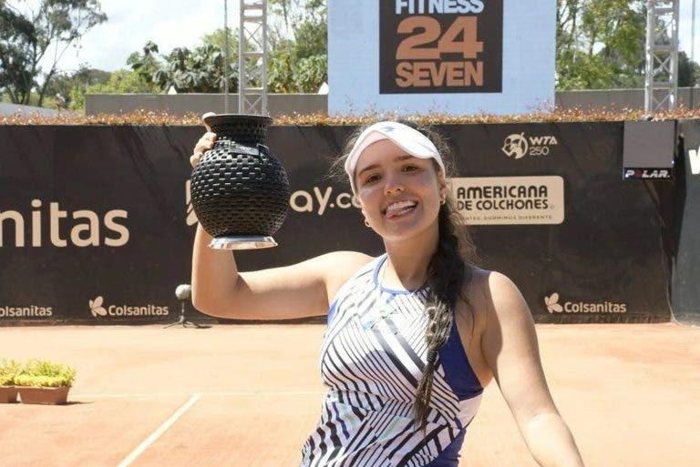 Incrível: Osório Serrano, de 19 anos, vence primeiro título WTA perante o seu público