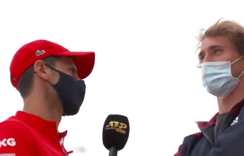 [VÍDEO] A hilariante (e estranha) entrevista de Djokovic a Zverev