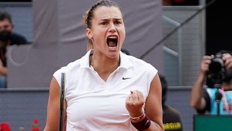 Sabalenka ganha últimos 11 pontos para bater Barty e sagra-se rainha de Madrid