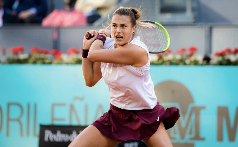Eis o novo top 10 WTA após Madrid: Sabalenka lança ataque ao pódio