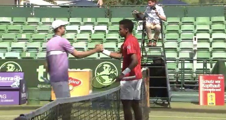 Auger Aliassime marca duelo inédito com Federer, Rublev desmonta Khachanov em Halle