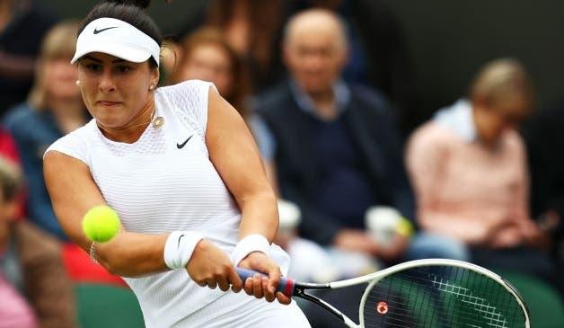 Andreescu irreconhecível é arrasada na primeira ronda de Wimbledon