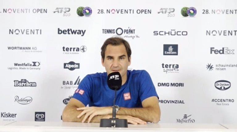 Federer desolado: «Demorei a vir à conferência para não falar de cabeça quente»