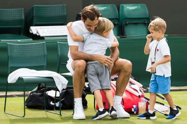Federer não vai levar a sua família para Wimbledon pela primeira vez