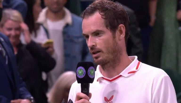 Andy Murray: «As pessoas querem que me retire. Eu quero jogar, acabei de ganhar a um top 30»