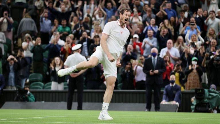 MEMORÁVEL. Murray não verga e batalha rumo à 3.ª ronda de Wimbledon
