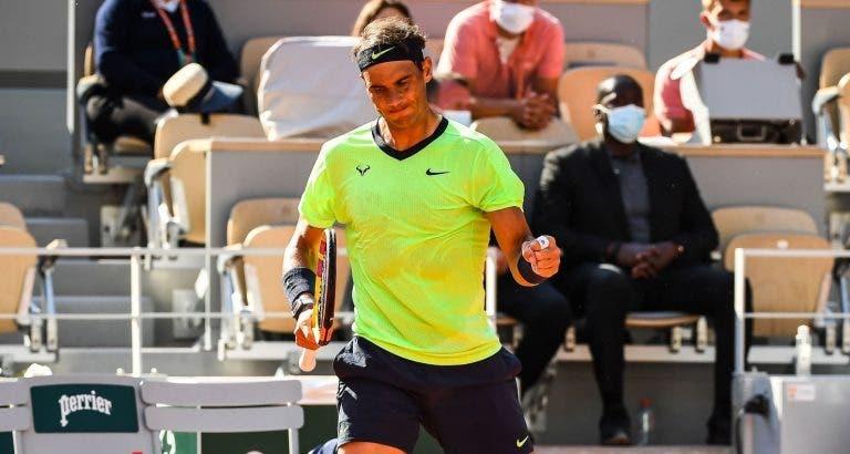 Nadal despacha Sinner e regressa aos quartos-de-final em Roland Garros
