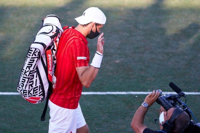 Thiem lesionou o tendão do pulso e deve falhar Wimbledon