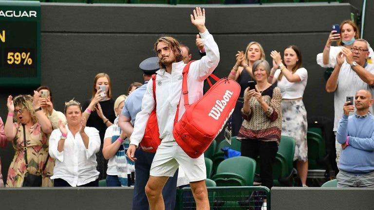 Tsitsipas: «Ainda estou chateado com o que aconteceu em Wimbledon»