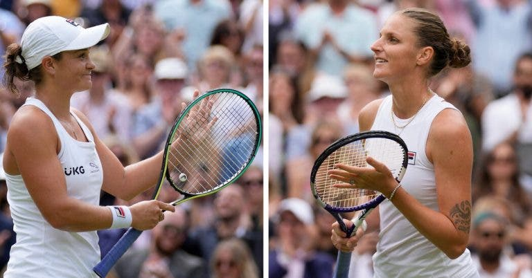 Barty vs. Pliskova: o incrível facto sobre a final feminina de Wimbledon