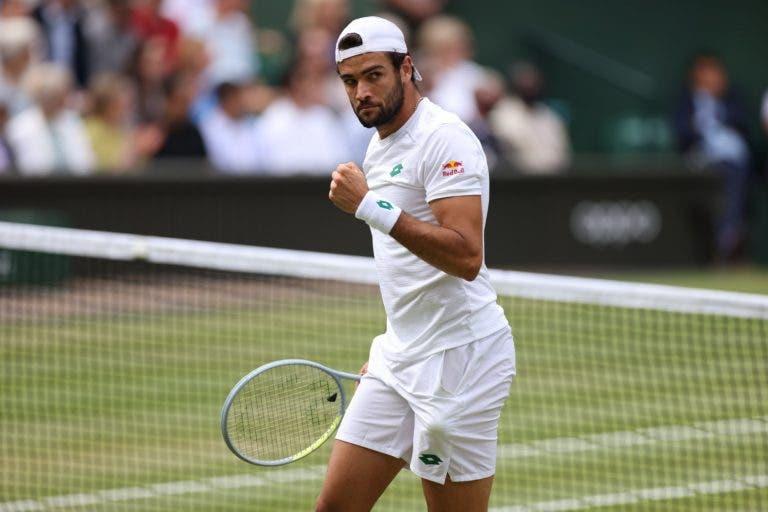 Berrettini faz história e torna-se no primeiro italiano a chegar à final de Wimbledon