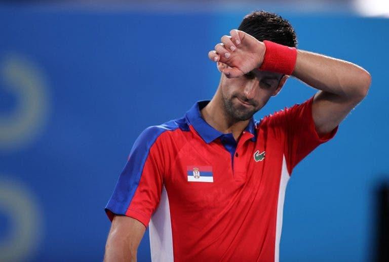 Djokovic a zeros em Tóquio: nem sequer entra em court para lutar pelo bronze de pares mistos