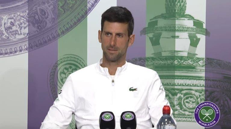 """""""Como é ser o mau rapaz a perseguir Federer e Nadal?"""" Djokovic responde com classe"""