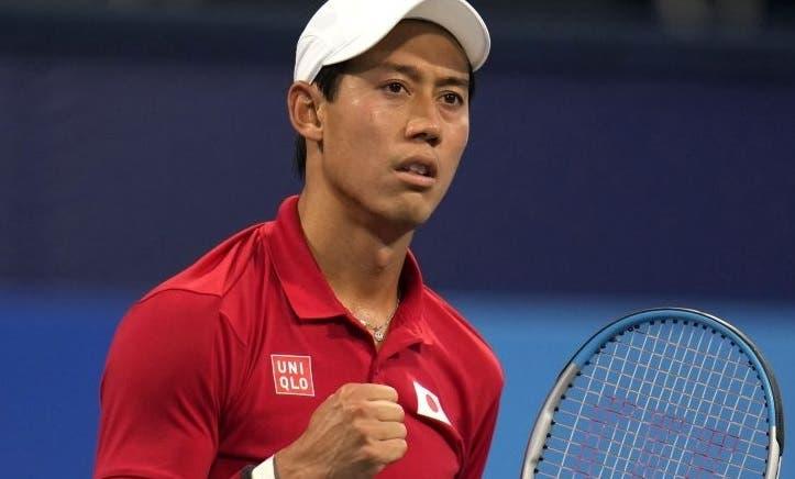 Nishikori segue firme e Hurkacz perde com o 143.º ATP