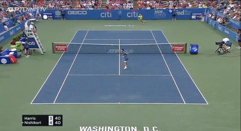 [VÍDEO] Vintage Nishikori está de volta com pancadas de deixar água na boca