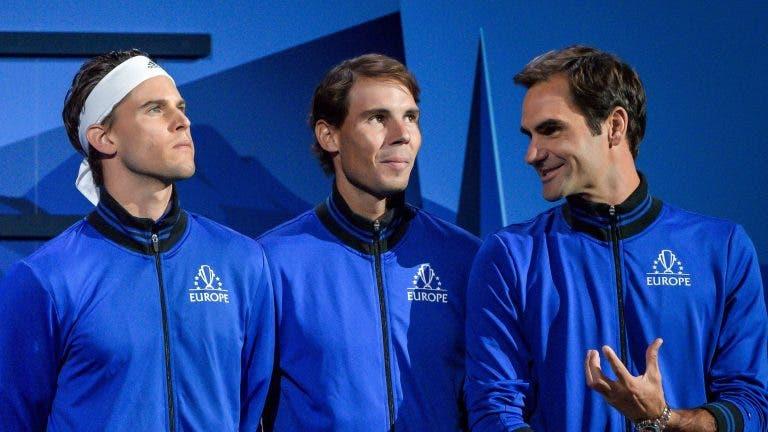 Fim da época para Nadal, Federer e Thiem: o que lhes vai acontecer no ranking ATP