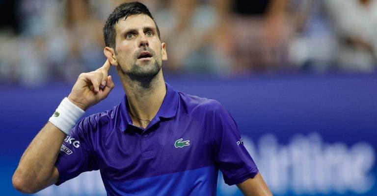 Djokovic deverá voltar à competição em 2021… mas ainda não sabe onde