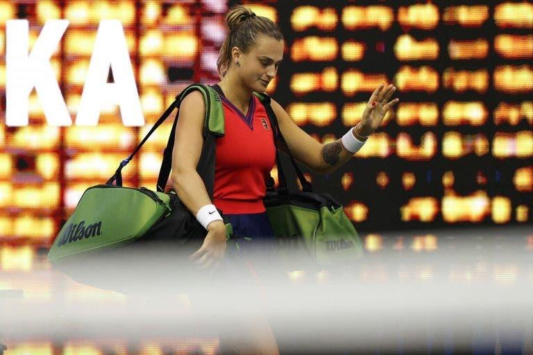Sabalenka, que ia ser a primeira cabeça-de-série em Indian Wells, apanha covid-19 e não joga o torneio